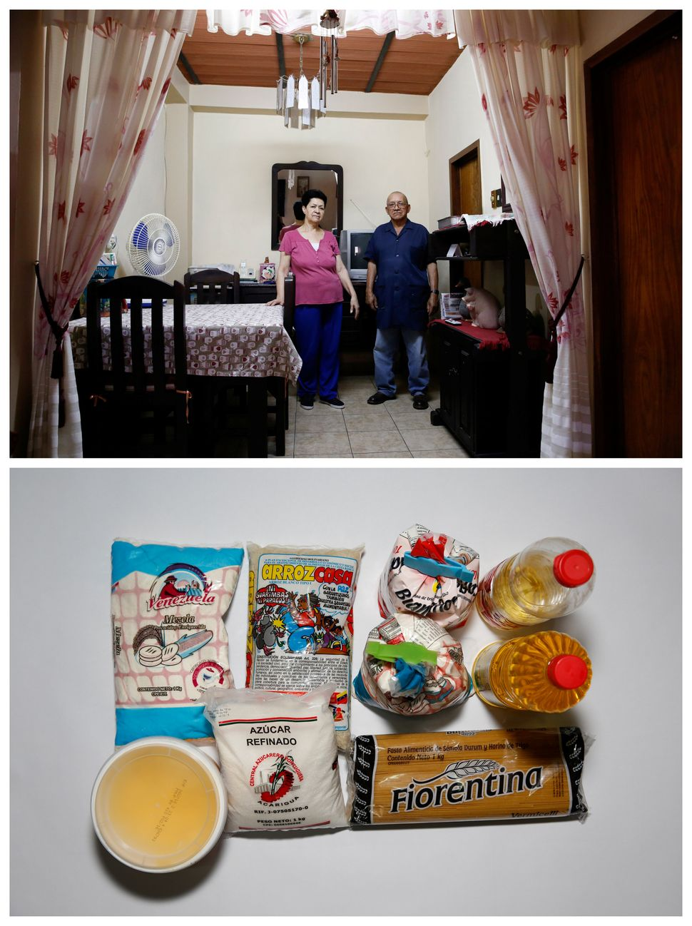 """""""Before we were able to buy food for 15 days, now only we can cover our food needs for the day,"""" Romulo Bonalde said."""