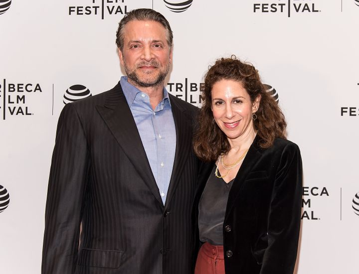 "James Ray and ""Enlighten Us"" director Jenny Carchman attend the movie's Tribeca premiere."