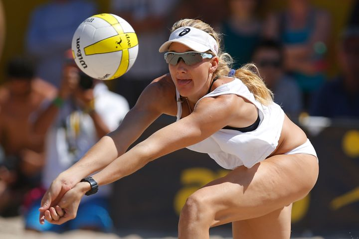 """""""Early on in my career finances were an issue,"""" Kerri Walsh Jennings, a reigning three-time Olympic gold medalist, tells the"""