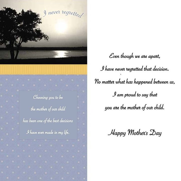 A Mother's Day card from the collection.