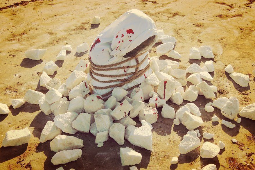 """Stoning"" will be on display in Murcia, Spain, until May 2."