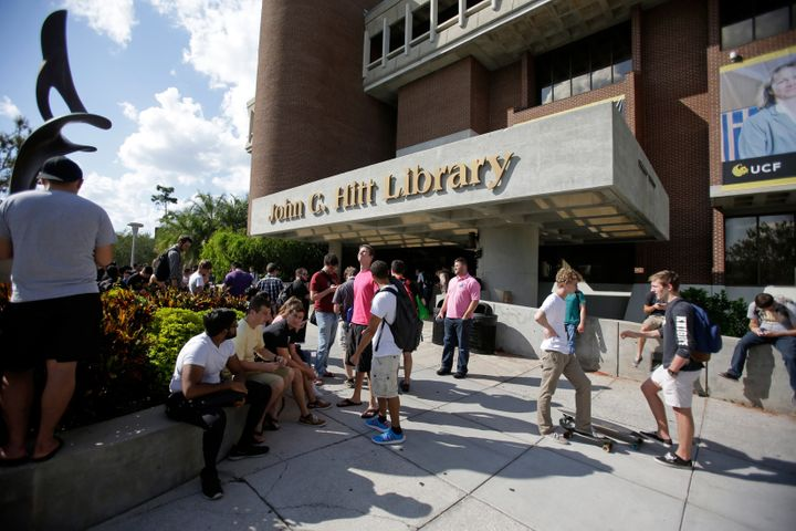 "The university in Orlando, Florida, evacuated the campus library over worries that a ""Middle Eastern"" person had a gun."