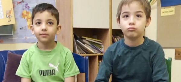 German Boy Forms Inseparable Bond With Young Syrian Refugee