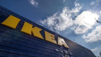 The logo of Ikea is seen outside the Ikea Concept store, run by Inter Ikea brand and concept in Delft, the Netherlands March 16, 2016.  REUTERS/Yves Herman