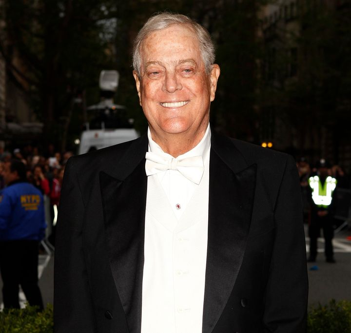 An organization founded by billionaire conservative activists David Koch (pictured) and his brother Charles supports new legi