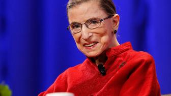 Justice Ruth Bader Ginsburg attends the lunch session of The Women's Conference in Long Beach, California October 26, 2010. REUTERS/Mario Anzuoni  (UNITED STATES - Tags: POLITICS CRIME LAW ENTERTAINMENT)