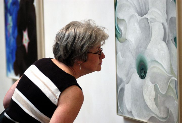 "Many believe&nbsp;that Georgia O'Keeffe's paintings of flowers were <a href=""http://www.theguardian.com/artanddesign/2016/mar"