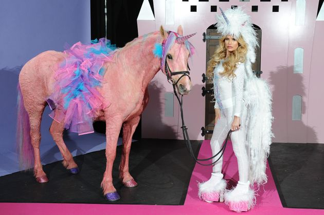 Katie Price Dresses Up As A Unicorn To Launch New Tv Show