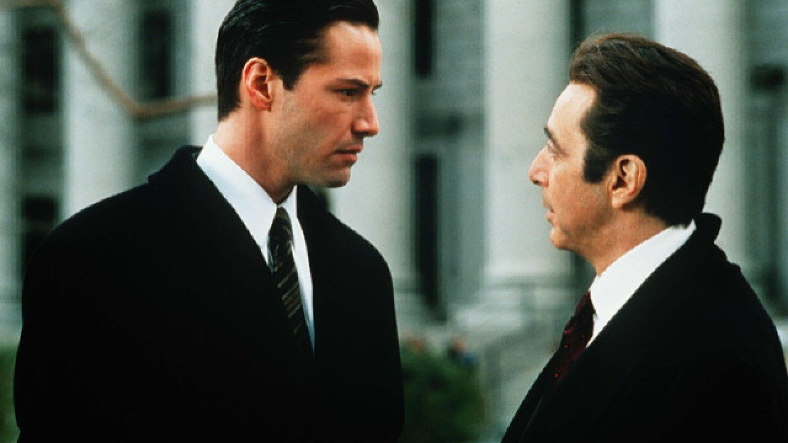 Title: DEVIL'S ADVOCATE, THE (1997) � Pers: REEVES, KEANU / PACINO, AL � Year: 1997 � Dir: HACKFORD, TAYLOR � Ref: DEV083AU � Credit: [ WARNER BROS/MONARCHY / THE KOBAL COLLECTION / HAMILL, BRIAN ]
