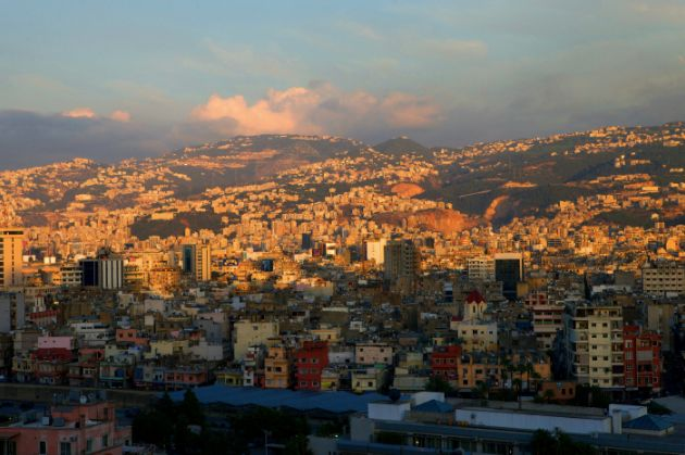 A view of Bourj Hammoud from across the Beirut River.