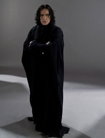 Professor Severus Snape, portrayed by Alan Rickman.
