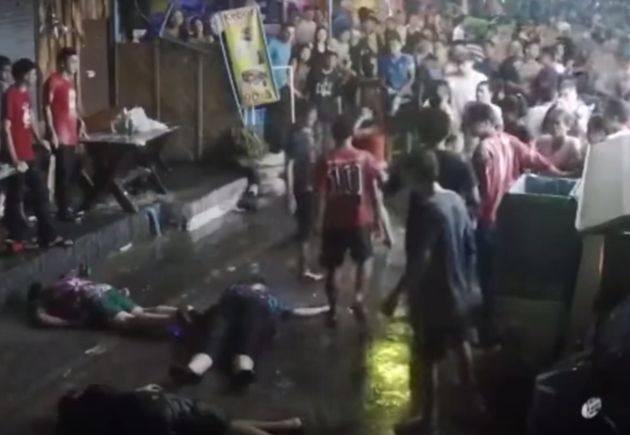 Three British tourists were attacked in Hua Hin, in