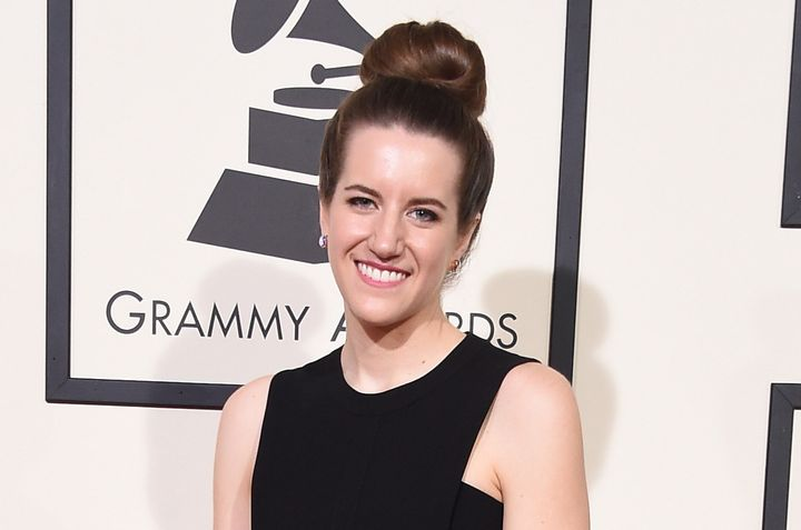 Laura Sisk attends the Grammy Awards on Feb. 15, 2016. Although part of the team that won for Best Album, she did not ap