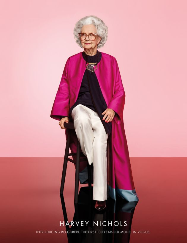 Harvey Nichols Campaign Puts World's First 100-Year-Old Model In