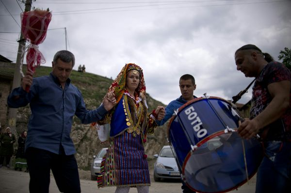 Emilia dances with her father, Mili Perchikov.