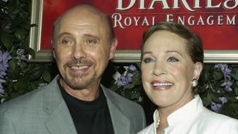 ANAHEIM, CA - AUGUST 7:  (L to R) Actors Hector Elizondo and Julie Andrews attend the film premiere of 'The Princess Diaries 2: Royal Engagement' at Disneyland on August 7, 2004 in Anaheim, California.  The film 'The Princess Diaries 2: Royal Engagement' opens in theaters nationwide on August 11, 2004.  (Photo by Frederick M. Brown/Getty Images).