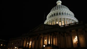 The U.S. Capitol building is seen before U.S. President Barack Obama delivers his State of the Union address in front of the U.S. Congress, on Capitol Hill in Washington January 28, 2014.  REUTERS/Jim Bourg (UNITED STATES  - Tags: POLITICS)