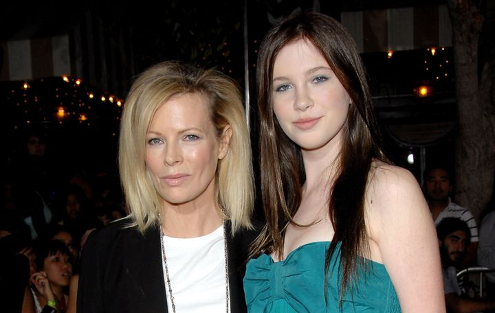 Kim Basinger and daughter Ireland Baldwin at the Los Angeles premiere of 'Twilight' in November 2008.