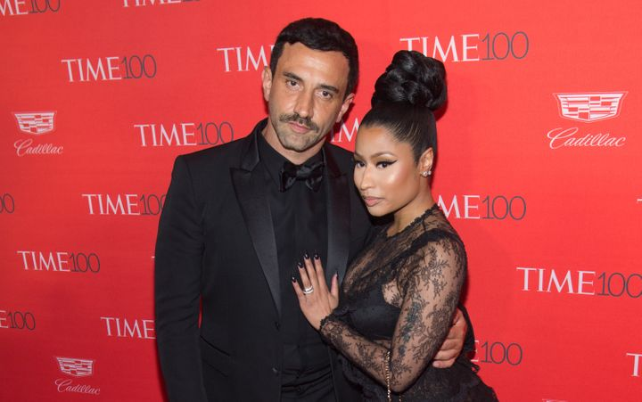 Riccardo Tisci and Nicki Minaj get real close on the red carpet at the 2016 Time 100 Gala in New York City.