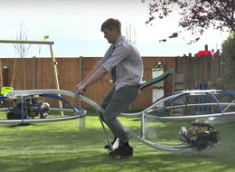 Mad Scientist Invents Hoverbike And We Want A Ride