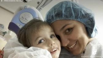 Nicolly Pereira recently had a surgery to restore her eyesight and enable her to see her mother's face for  the first time.
