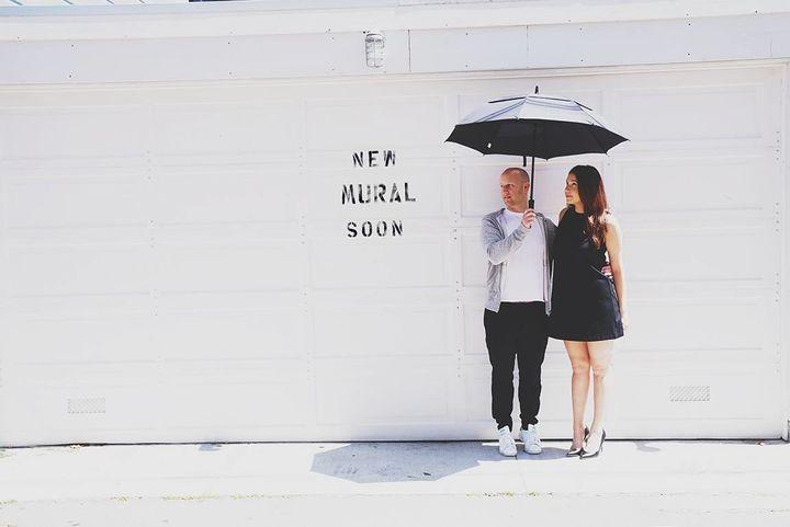 Dan Levine convinced his girlfriendCristina Cordova to do a photo shoot with artist Alexa Meade.