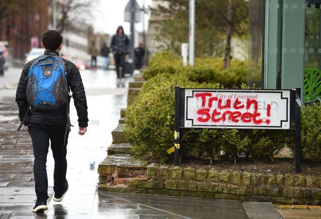 Duckinfield Street has been renamed Truth Street by angry Liverpudlians in order to distance the city...