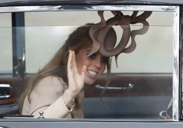 Princess Beatrice of York arrives at Westminster Abbey.