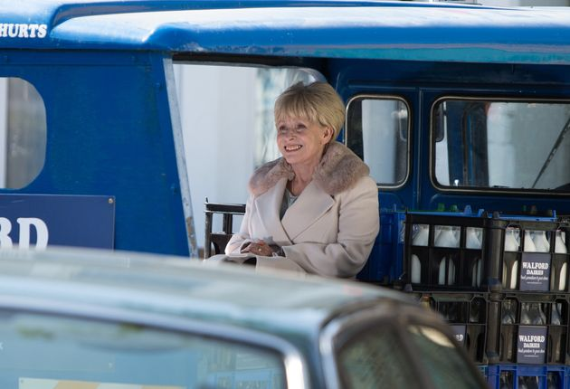 Peggy Mitchell arrives back in Walford next