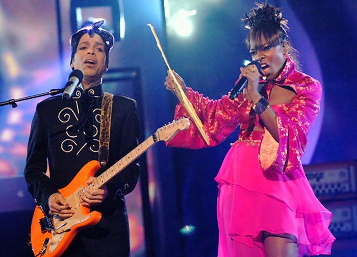 """Prince and Tamar Davisperform""""3121"""" during the 6th Annual BET Awards."""