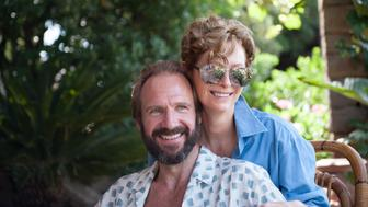 """Ralph Fiennes as """"Harry"""" and Tilda Swinton as """"Marianne"""" in A BIGGER SPLASH. Photo courtesy of Jack English. © 2016 Twentieth Century Fox Film Corporation All Rights Reserved"""