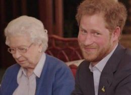 What Was Prince Harry Showing The Queen On His Phone?