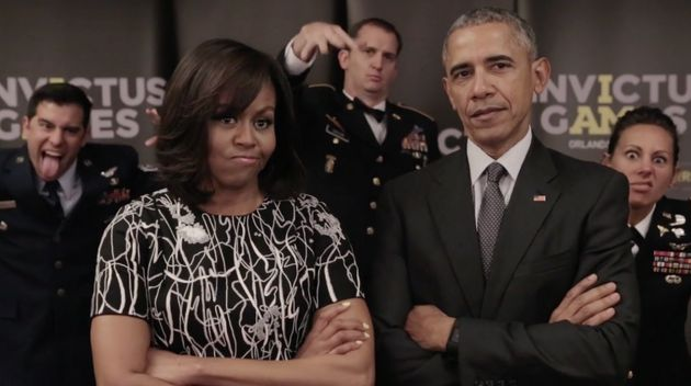 That's fighting talk: The Obamas delivered a direct challenge to Prince Harry on