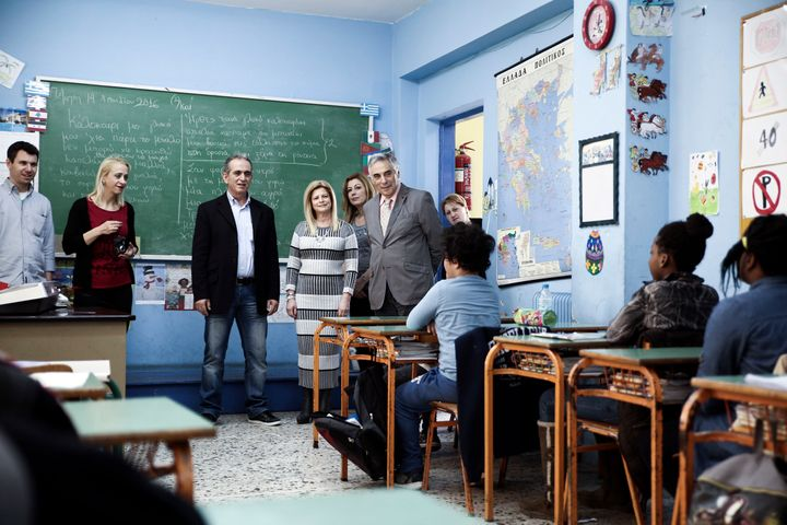 """The school is one of 13 """"intercultural schools"""" in Greece, and one of three in the capital Athens."""