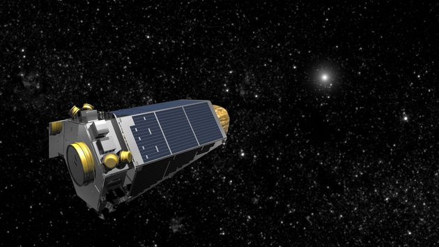 NASA's Kepler spacecraft is seen 75m miles from
