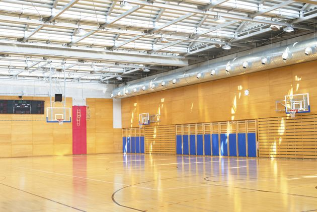 The two boys were discovered in a school gymnasium (file