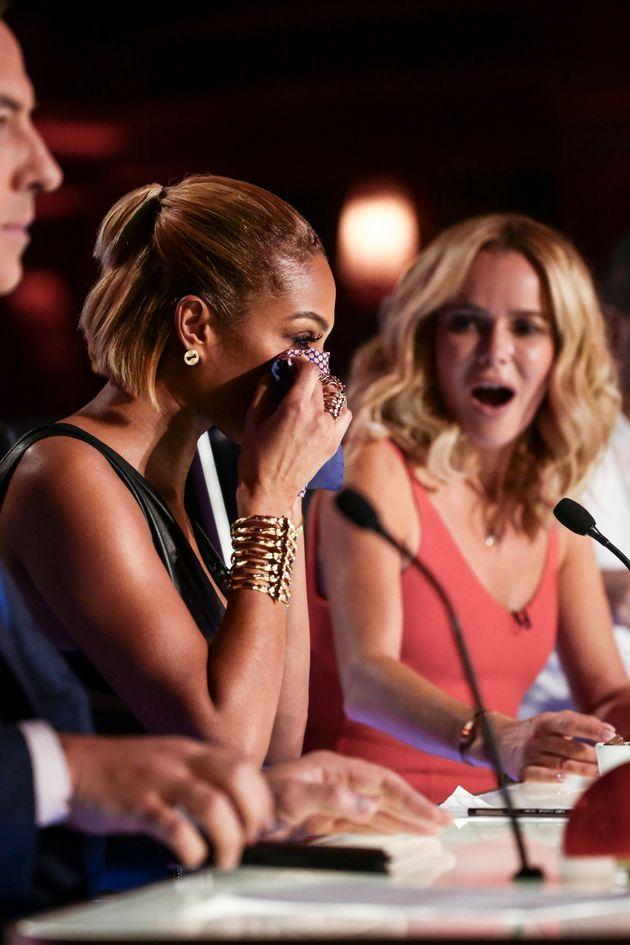 Alesha Dixon was terribly emotional at Jasmine's
