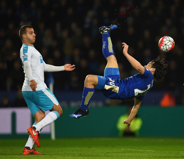 Leicester City's Shinji Okazaki scored an odds-defying bicycle kick in March.