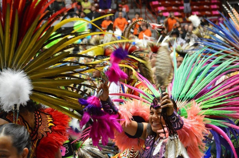 Aztec dancers at the Gathering of Nations