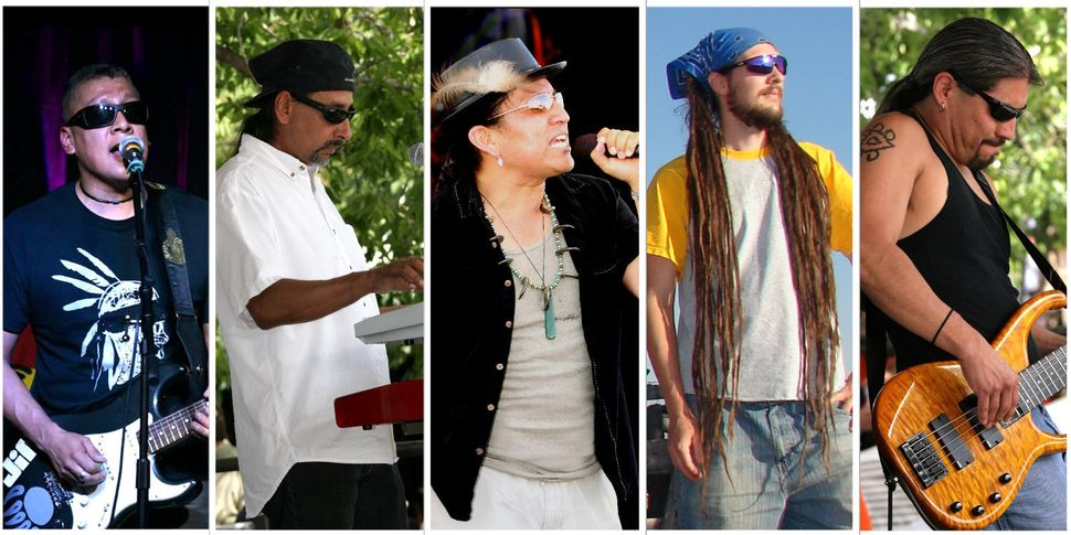 """<a href=""""http://www.nativeroots.net/"""" target=""""_blank"""">Native Roots</a>, a Native American reggae band"""