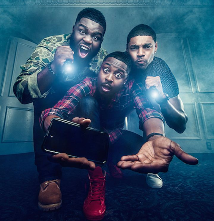 'Ghost Brothers'€ Marcus Harvey (left), Dalen Spratt, (middle) and Juwan Mass (right) are TV'€™s first African-American para