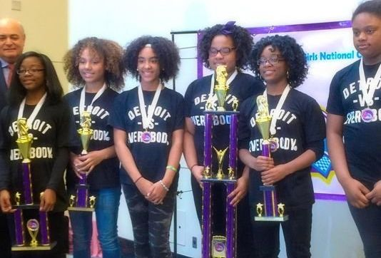 "The all-girls University Prep Science and Math team from Detroit won the ""Under 14"" category at the 13th Annual Kcf All-"