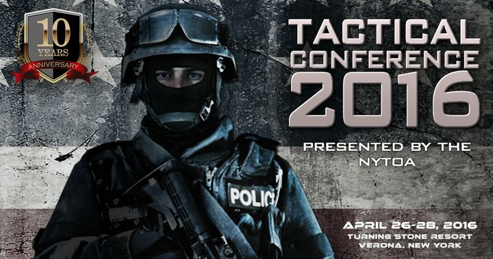 A screenshot from the website for the New York Tactical Officers Association conference.