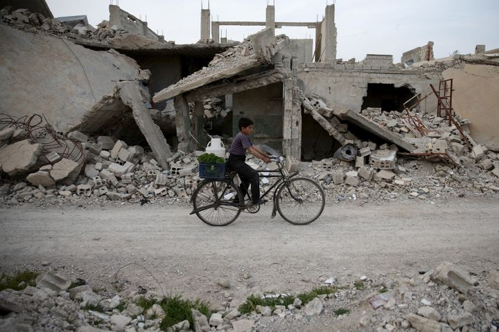 The Syrian government dropped hundreds of unexploded cluster bombs in and around besieged, rebel-held Eastern Ghouta.