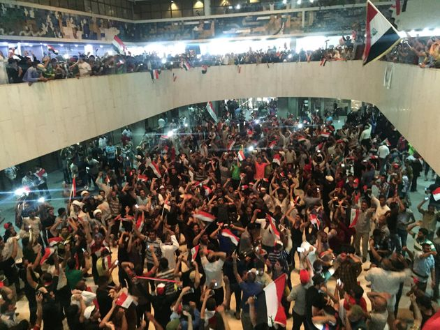 Protests disband after IS group carries out 2nd Iraq bombing