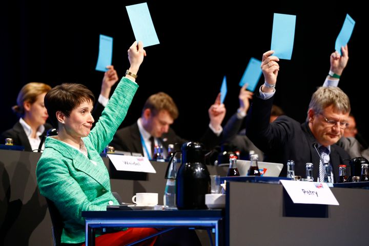 The Alternative for Germany (AfD) congress began late in Stuttgart, Germany, after the clashes.
