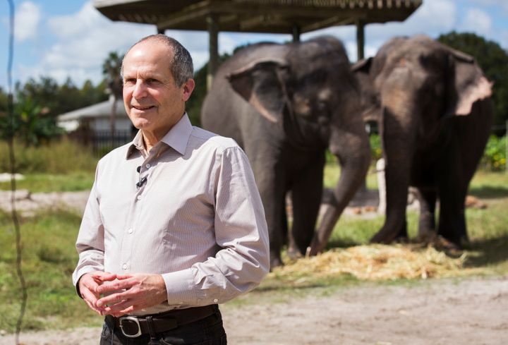 Kenneth Feld, CEO of Feld Entertainment Inc. answers questions at the Ringling Bros. and Barnum & Bailey Center for Eleph