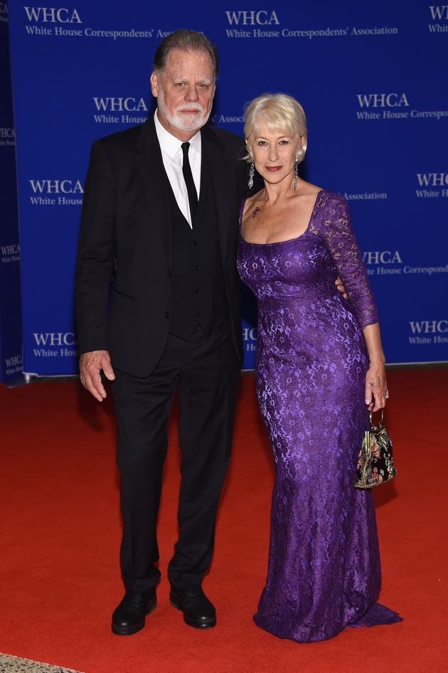 Helen Mirren Paid Tribute To Prince With A Purple Dress And A Fake