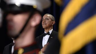 WASHINGTON, DC - APRIL 30: (AFP OUT) President Barack Obama attends the White House Correspondents' Association annual dinner on April 30, 2016 at the Washington Hilton hotel in Washington, DC. This is President Obama's eighth and final White House Correspondents' Association dinner (Photo by Olivier Douliery-Pool/Getty Images)