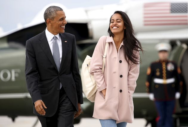 President Obama and daughter